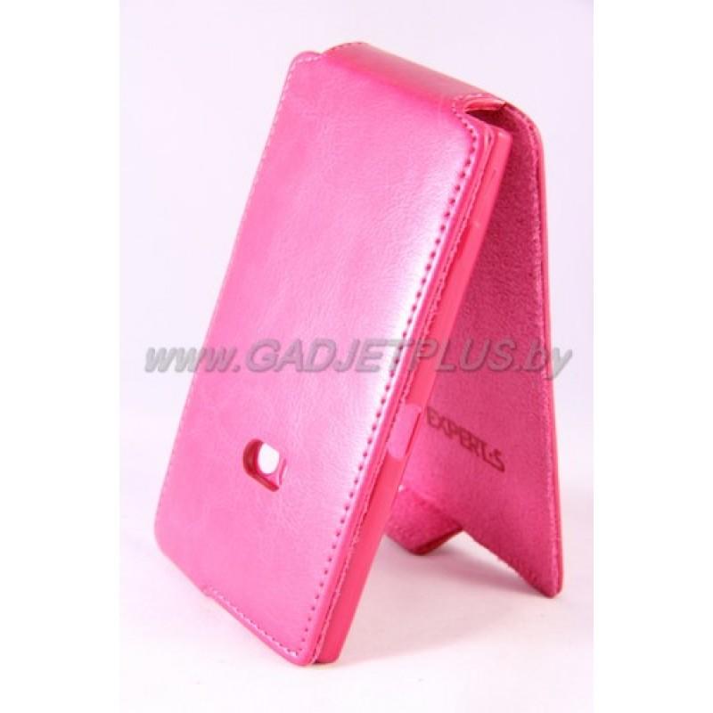 для Nokia Lumia 920 Чехол-блокнот Experts Slim Flip Case розовый