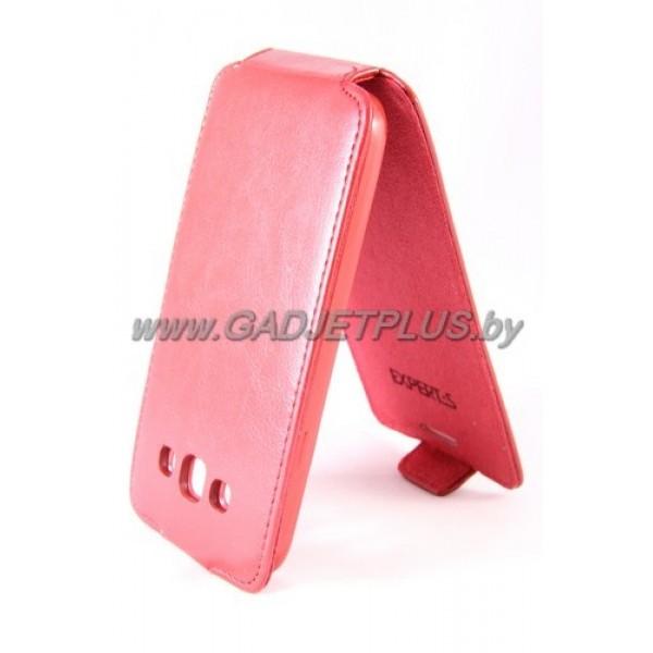 """Samsung Galaxy E5 SM-E500H/DS чехол-блокнот Experts """"Slim Flip Case"""", красный"""