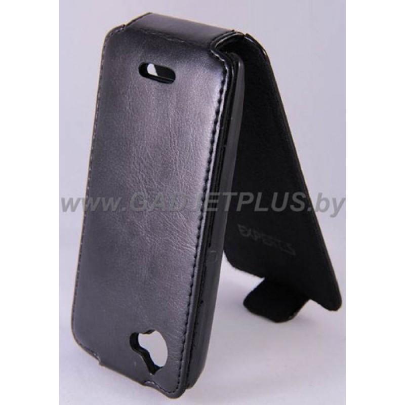 для Sony Xperia L Чехол-блокнот Experts Slim Flip Case черный