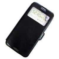 для HTC Desire 626G чехол-книга с силиконовым основанием Experts с окном черный