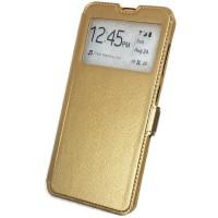 Чехол-книжка для Samsung Galaxy A50 Experts с окном цвет золотой