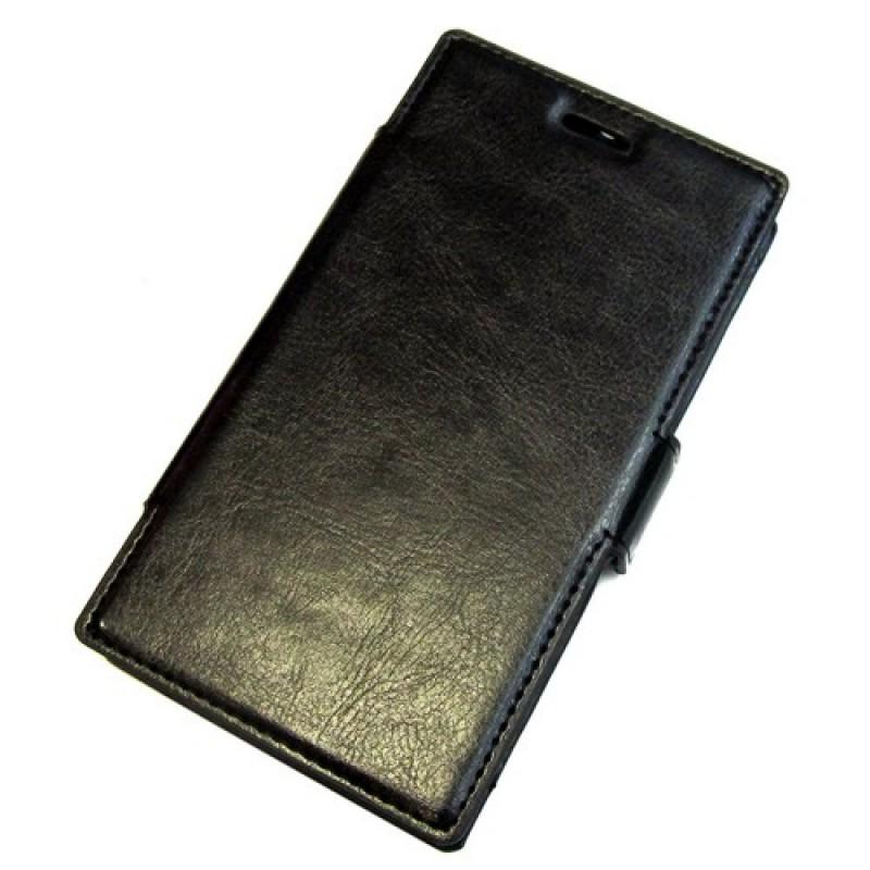 для Nokia Lumia 730 / 735 чехол-книга Experts Slim Book Case черный
