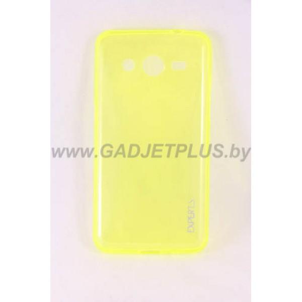 для Samsung Galaxy Core 2 G355H Ультратонкий силиконовый чехол-накладка Experts Fine TPU Case желтый