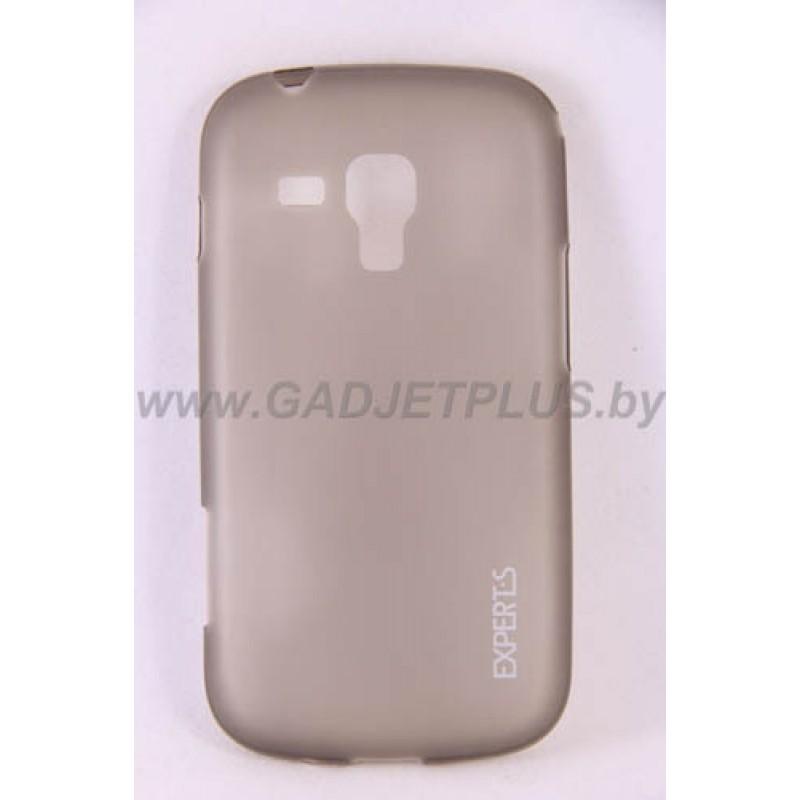 для Samsung Galaxy S Duos S7562 Ультратонкий силиконовый чехол-накладка Experts Fine TPU Case черный матовый