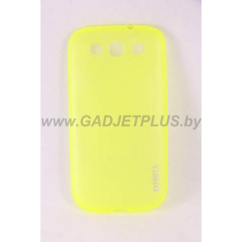 для Samsung Galaxy S3 (i9300) Ультратонкий силиконовый чехол-накладка Experts Fine TPU Case матовый желтый