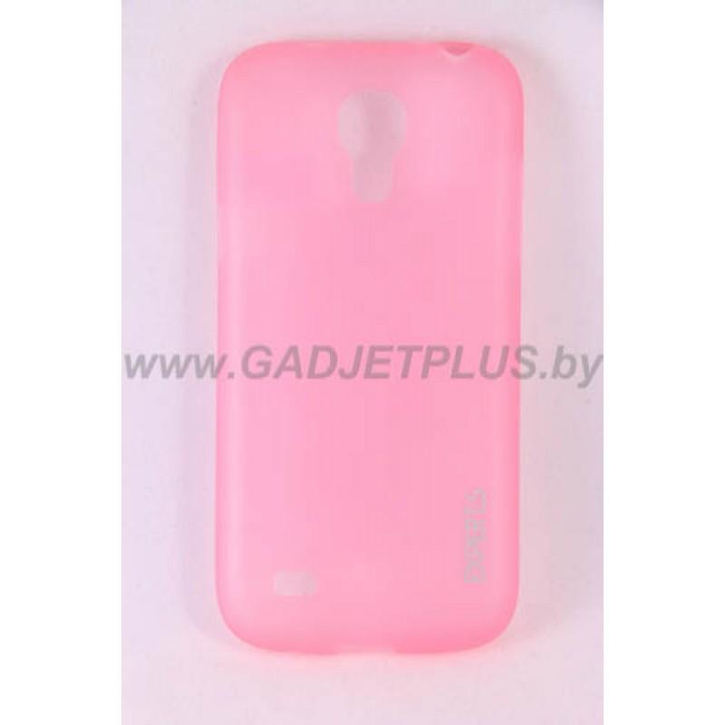 для Samsung Galaxy S4 Mini (i9190) Ультратонкий силиконовый чехол-накладка Experts Fine TPU Case розовый матовый