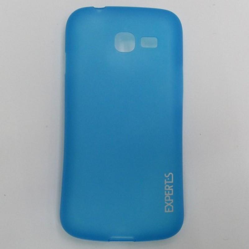 для Samsung Galaxy Star Plus (S7262) Ультратонкий силиконовый чехол-накладка Experts Fine TPU Case матовый голубой