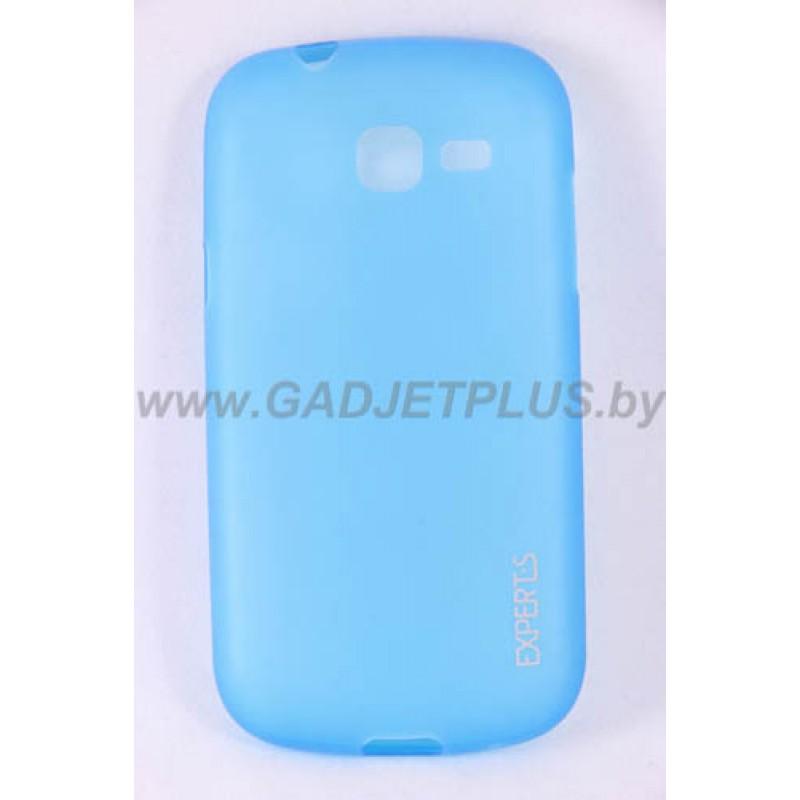 для Samsung Galaxy Trend Lite (S7390) Ультратонкий силиконовый чехол-накладка Experts Fine TPU Case матовый голубой