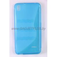 """HTC Desire 816 чехол-бампер силиконовый EXPERTS """"TPU CASE"""", голубой"""