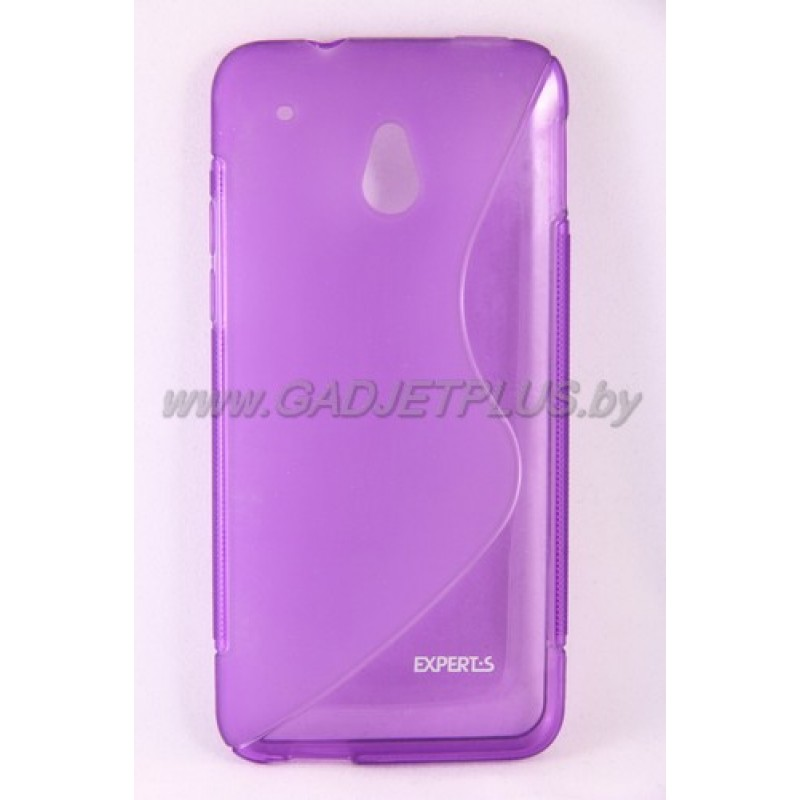 "HTC One mini чехол-бампер Experts "" TPU CASE"" силиконовый, цвет фиолетовый"
