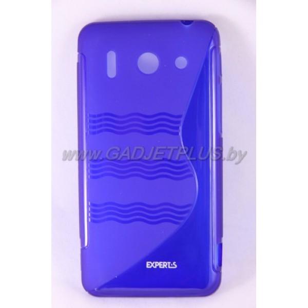 для Huawei Ascend G510 чехол-накладка силиконовый Experts TPU Case синий