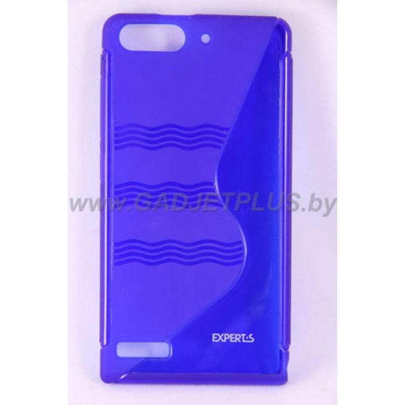 для Huawei Ascend G6 чехол-накладка силиконовый Experts TPU Case синий