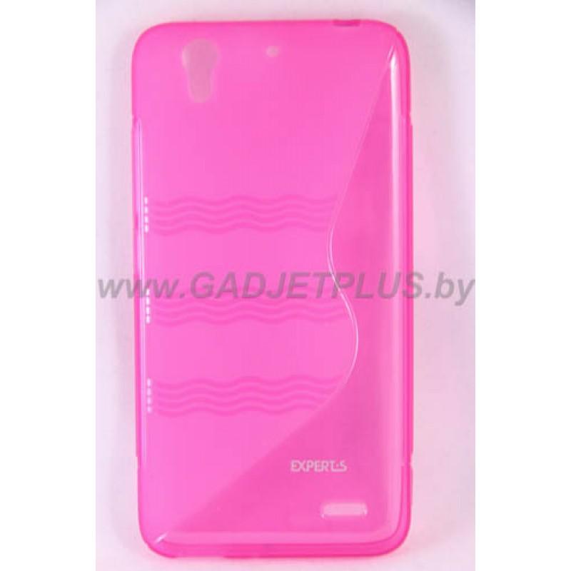 для Huawei Ascend G630 чехол-накладка силиконовый Experts TPU Case розовый