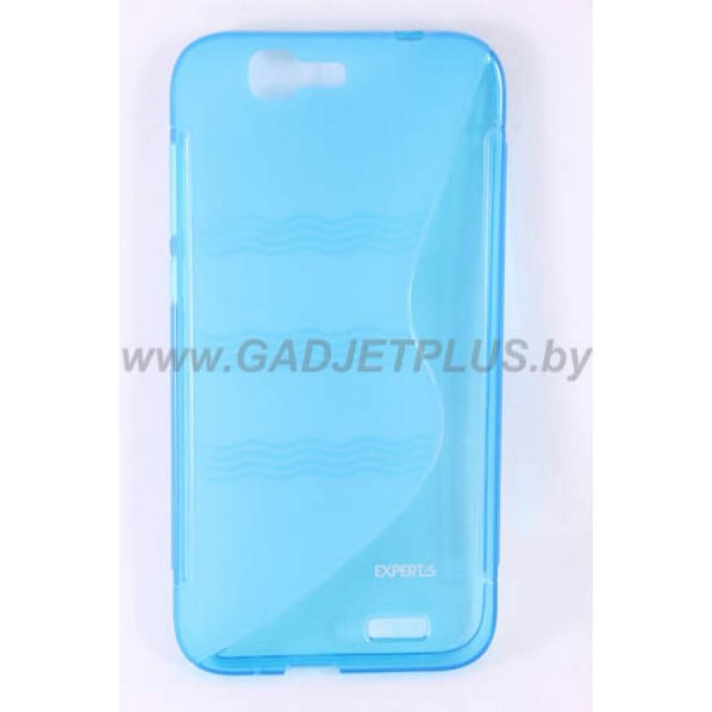 для Huawei Ascend G7 чехол-накладка силиконовый Experts TPU Case голубой