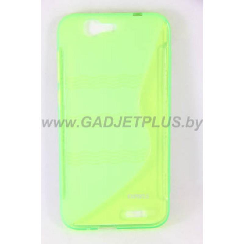 для Huawei Ascend G7 чехол-накладка силиконовый Experts TPU Case зеленый
