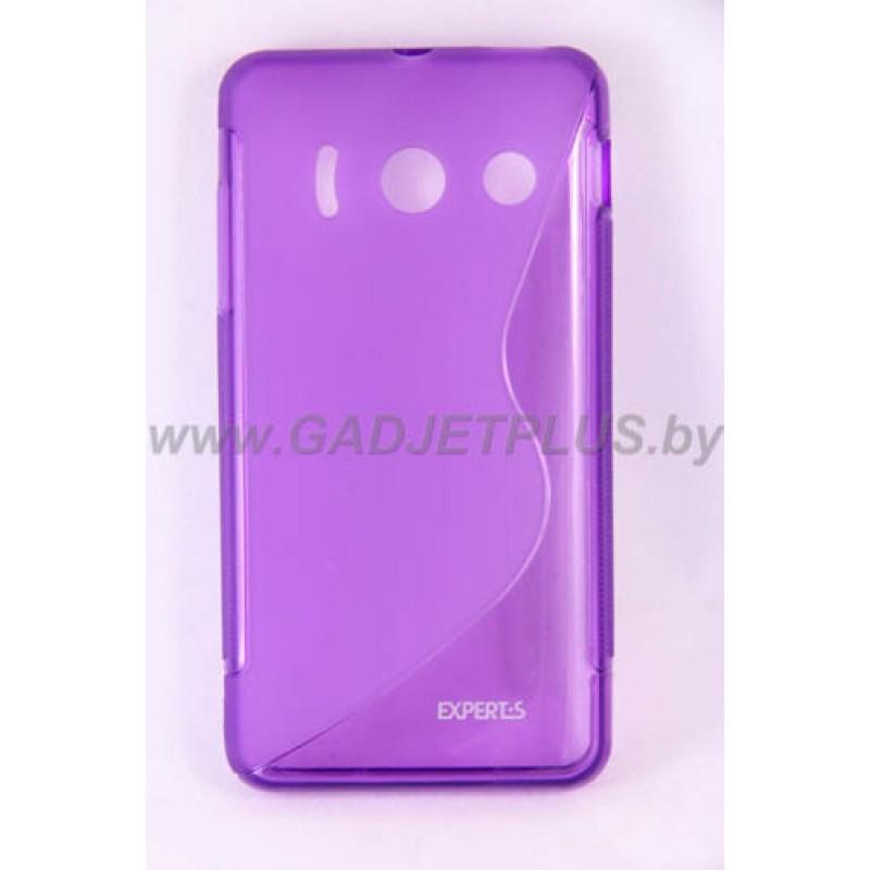 для Huawei Ascend Y300 (U8830) чехол-накладка силиконовый Experts TPU Case фиолетовый