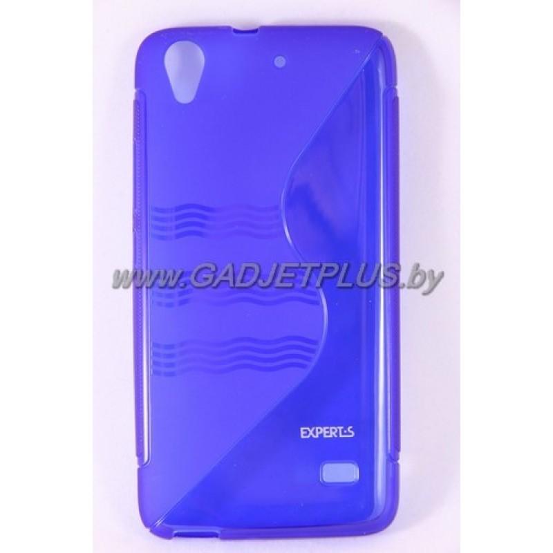 для Huawei Ascend G620s чехол-накладка силиконовый Experts TPU Case синий