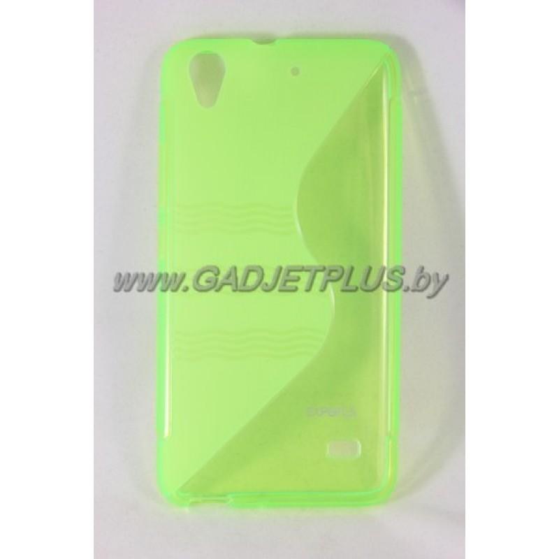 для Huawei Ascend G620s чехол-накладка силиконовый Experts TPU Case зеленый