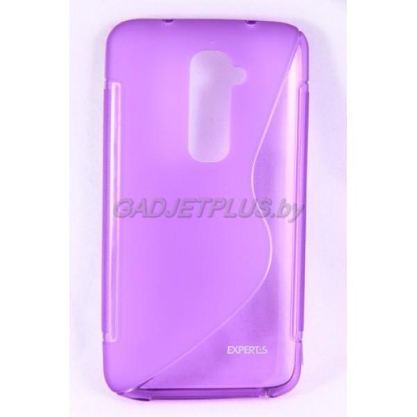для LG G2 D802 чехол-накладка силиконовый Experts TPU Case фиолетовый