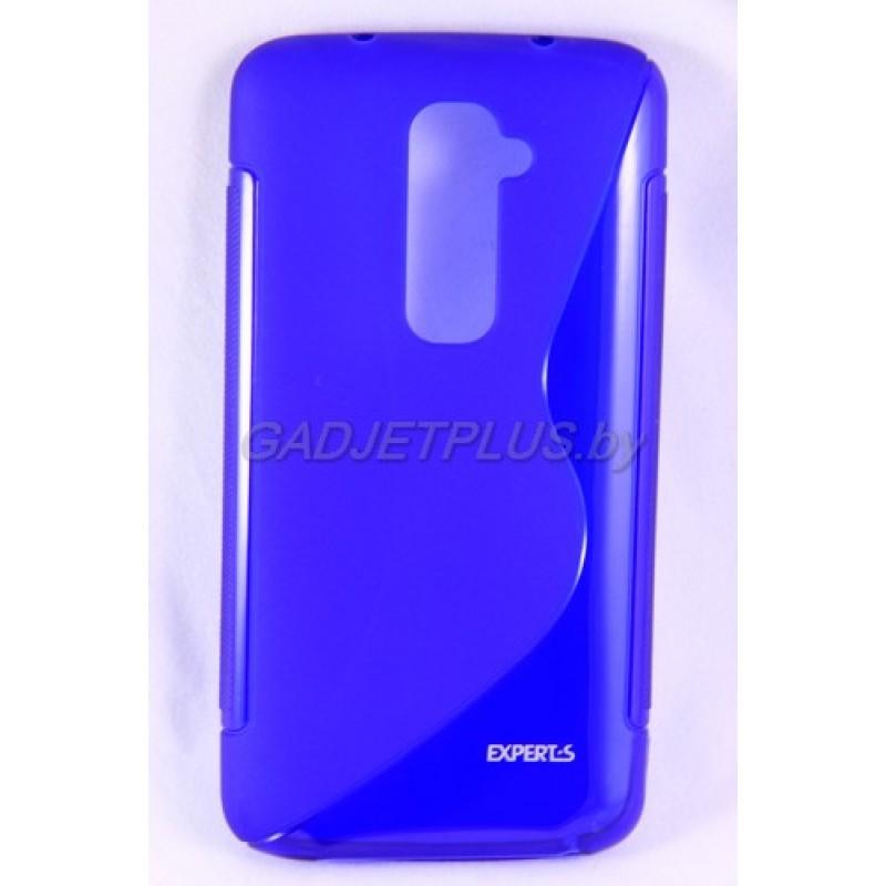 для LG G2 D802 чехол-накладка силиконовый Experts TPU Case синий