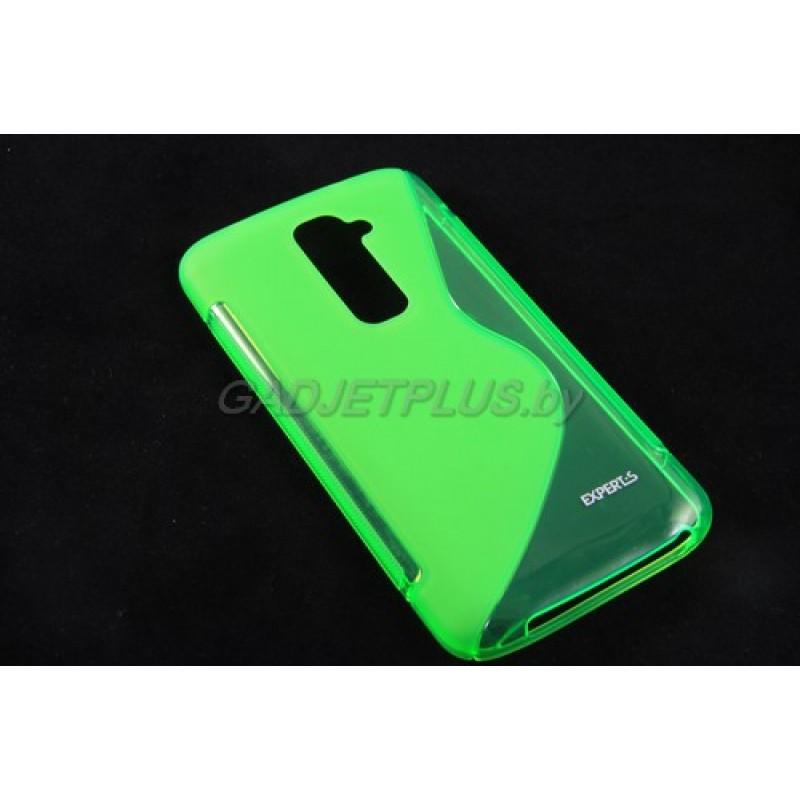 для LG G2 D802 чехол-накладка силиконовый Experts TPU Case зелёный