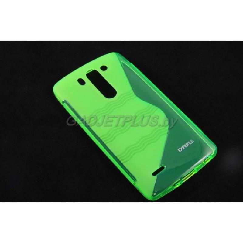 для LG G3s (D724) чехол-накладка силиконовый Experts TPU Case зелёный