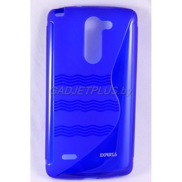 для LG G3 Stylus D690 чехол-накладка силиконовый Experts TPU Case синий