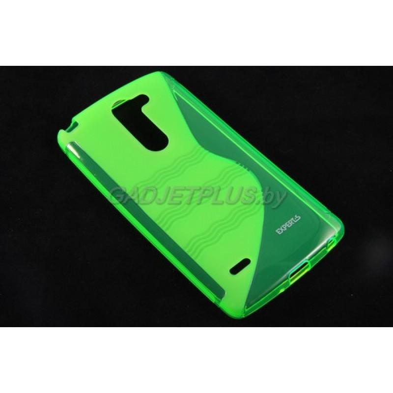 для LG G3 Stylus D690 чехол-накладка силиконовый Experts TPU Case зелёный