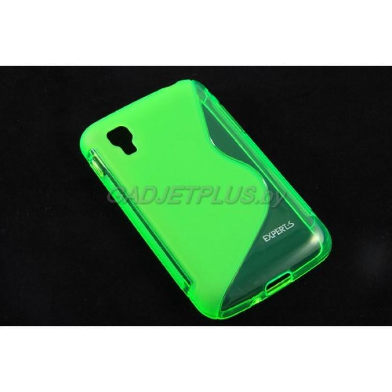 """для LG Optimus L4 II Dual E445 чехол-накладка силиконовый Experts """"TPU CASE"""", зелёный"""