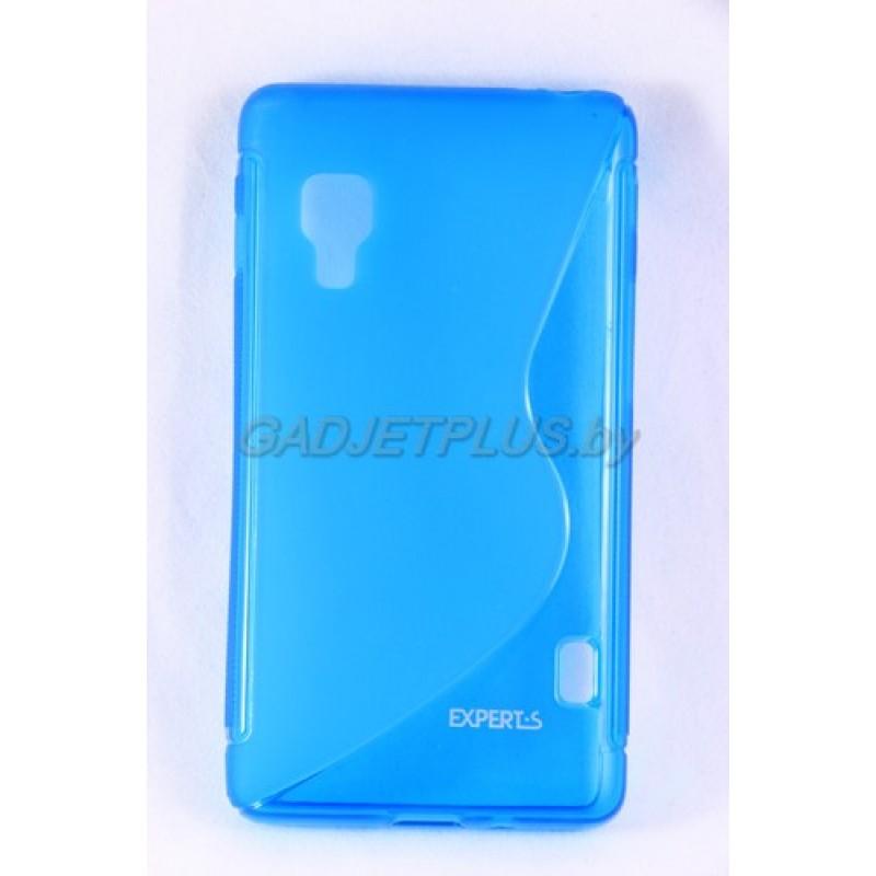 для LG Optimus L5 2 (E460) чехол-накладка силиконовый Experts TPU Case голубой