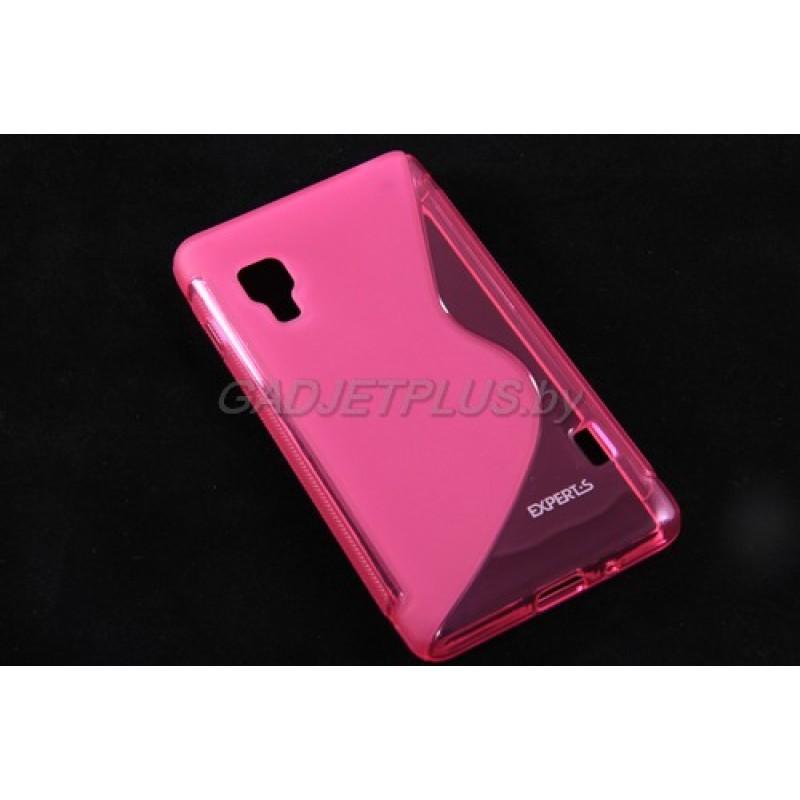 для LG Optimus L5 2 (E460) чехол-накладка силиконовый Experts TPU Case розовый