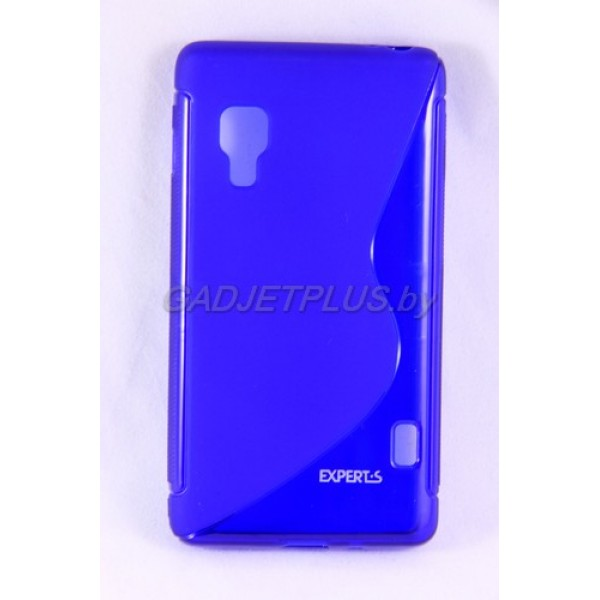 для LG Optimus L5 2 (E460) чехол-накладка силиконовый Experts TPU Case синий