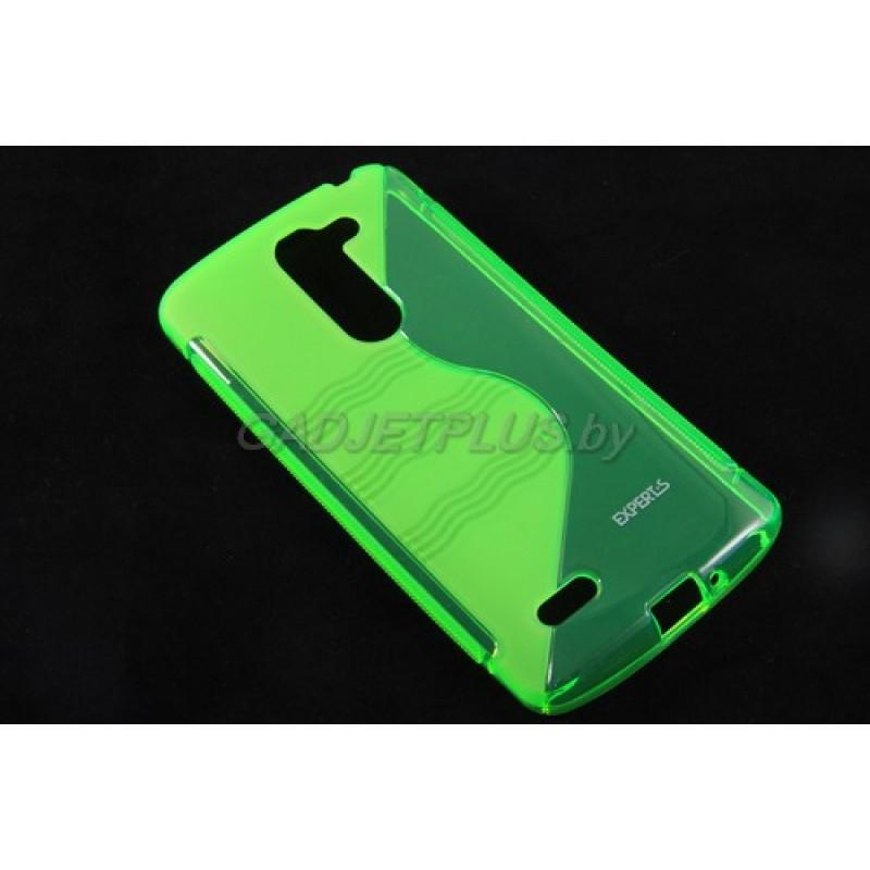 для LG L Bello (D335) чехол-накладка силиконовый Experts TPU Case зеленый