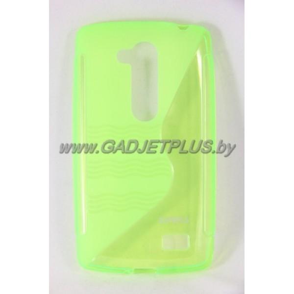"LG L Fino D295 чехол-бампер силиконовый Experts ""TPU CASE"", зелёный"