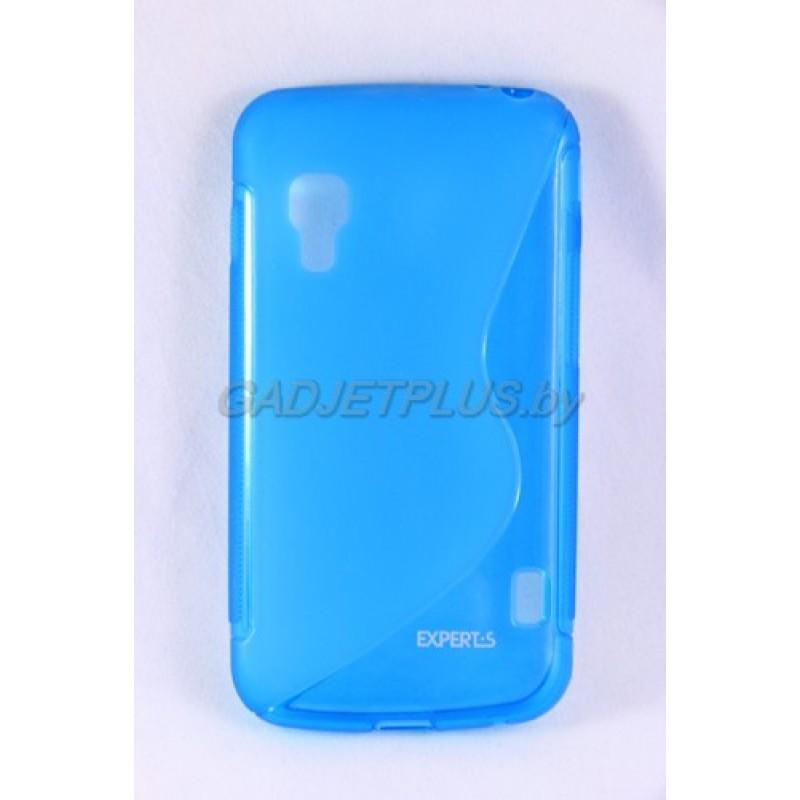 """для LG Optimus L5 2 Dual (E455) чехол-накладка силиконовый Experts """"TPU CASE"""", голубой"""