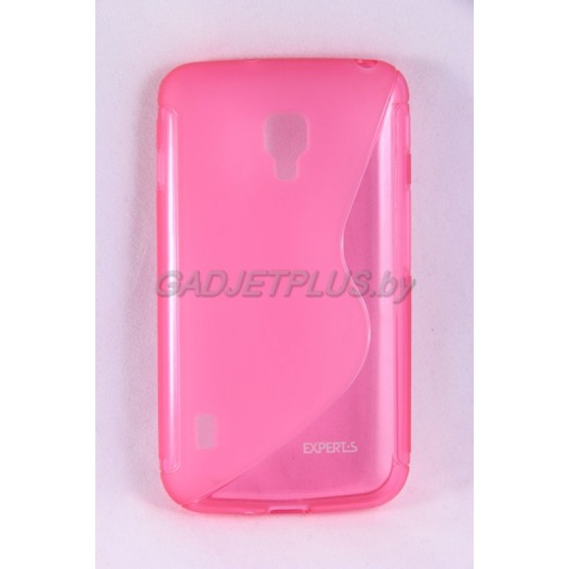 для LG Optimus L7 II Dual (P715) чехол-накладка силиконовый Experts TPU Case розовый