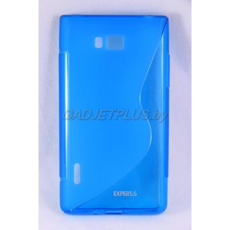 """для LG Optimus L7 (P705) чехол-накладка силиконовый Experts """"TPU CASE"""" голубой"""