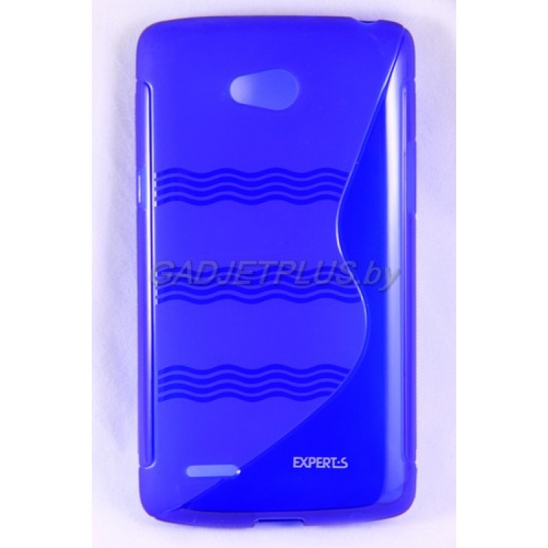 для LG L80 (D380) чехол-накладка силиконовый Experts TPU Case синий