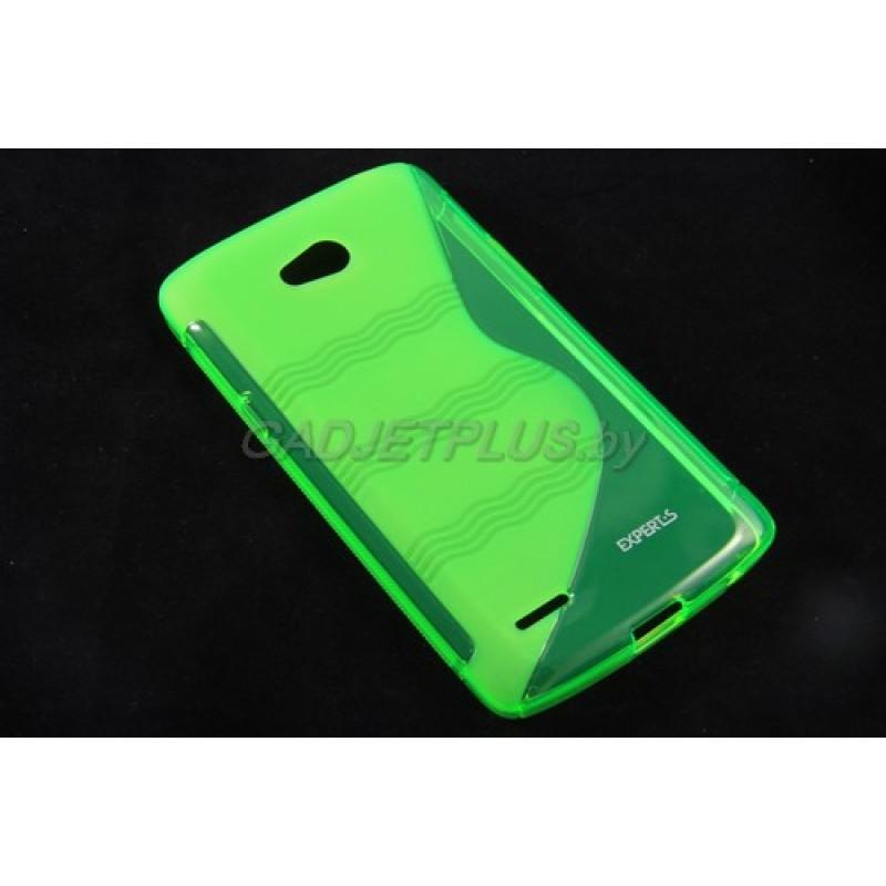 для LG L80 (D380) чехол-накладка силиконовый Experts TPU Case зеленый