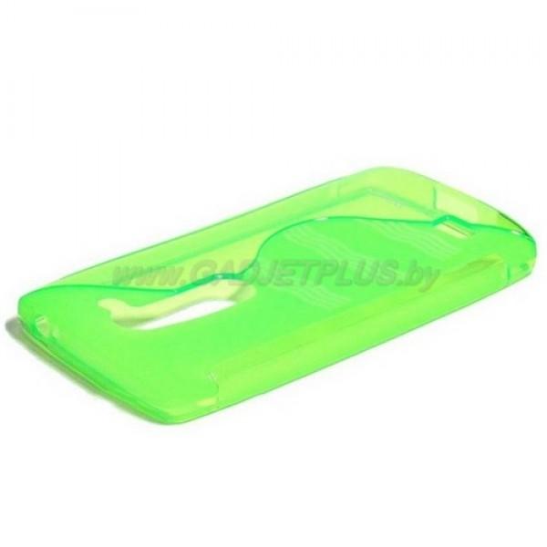 для LG Leon (H324) чехол-накладка силиконовый Experts TPU Case зелёный