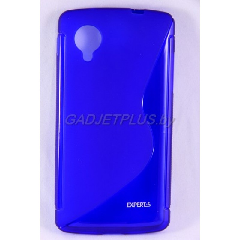 для LG Nexus 5 (D821) чехол-накладка силиконовый Experts TPU Case синий