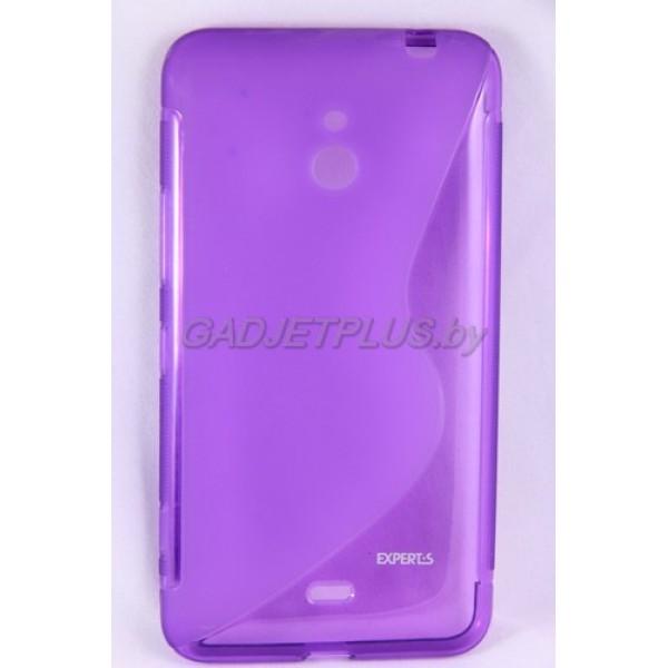 для Nokia Lumia 1320 чехол-накладка силиконовый Experts TPU Case фиолетовый