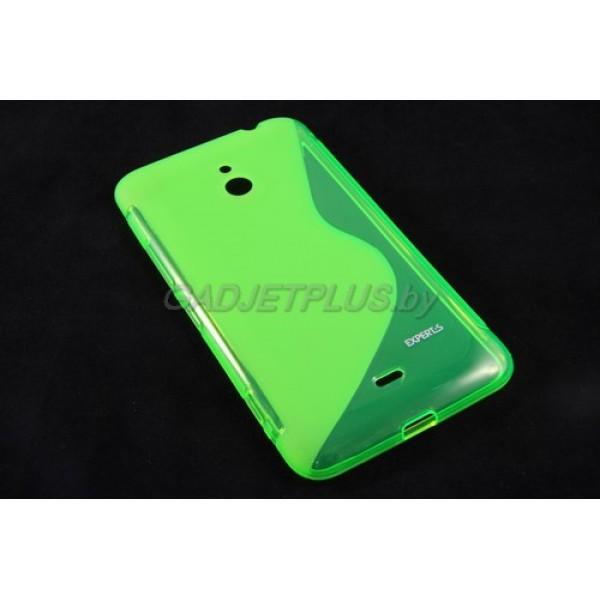 для Nokia Lumia 1320 чехол-накладка силиконовый Experts TPU Case зеленый