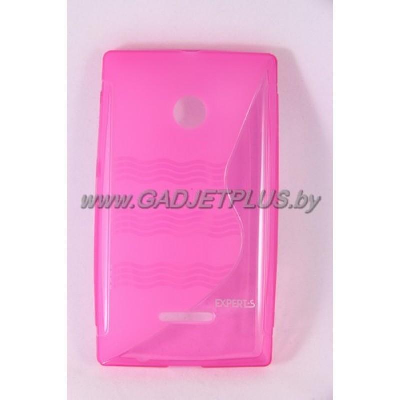 для Nokia Lumia 435 чехол-накладка силиконовый Experts TPU Case розовый