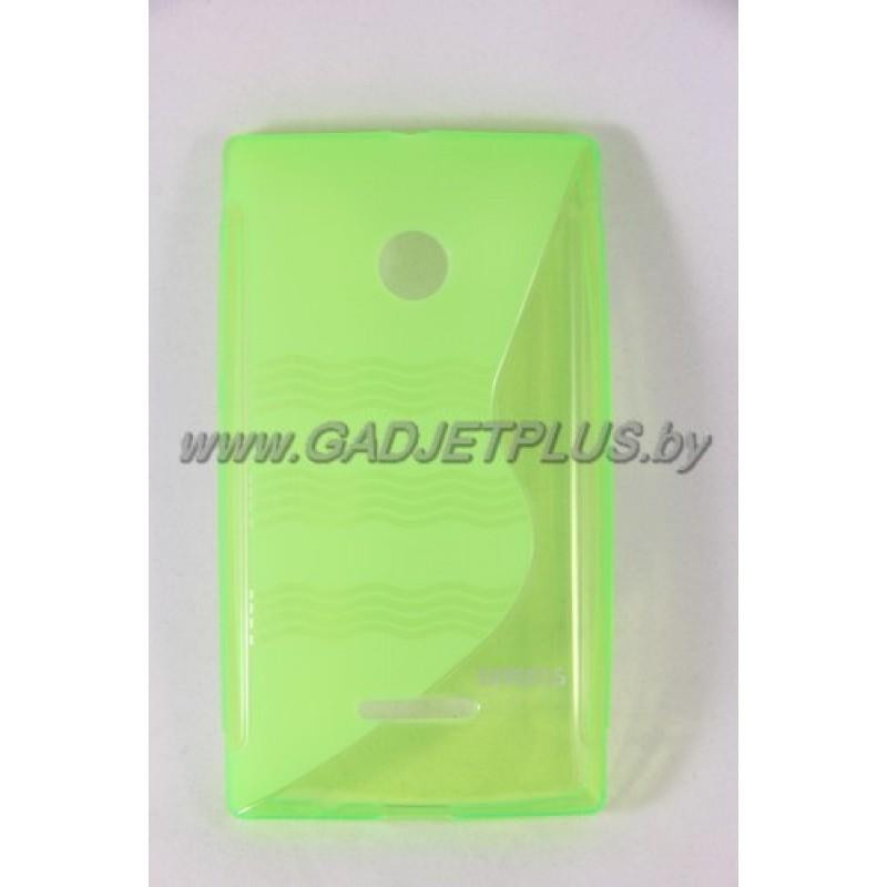для Nokia Lumia 435 чехол-накладка силиконовый Experts TPU Case зелёный