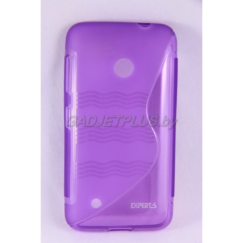 для Nokia Lumia 530 чехол-накладка силиконовый Experts TPU Case фиолетовый