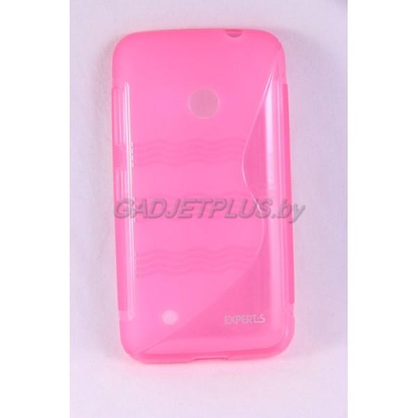 для Nokia Lumia 530 чехол-накладка силиконовый Experts TPU Case розовый