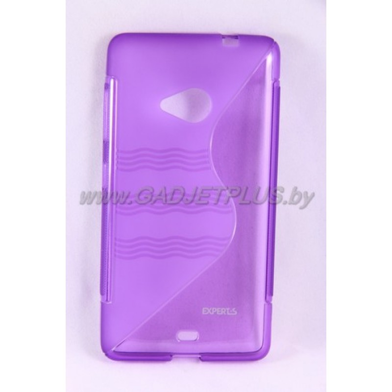 для Nokia Lumia 535 чехол-накладка силиконовый Experts TPU Case фиолетовый