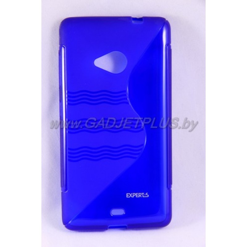 для Nokia Lumia 535 чехол-накладка силиконовый Experts TPU Case синий