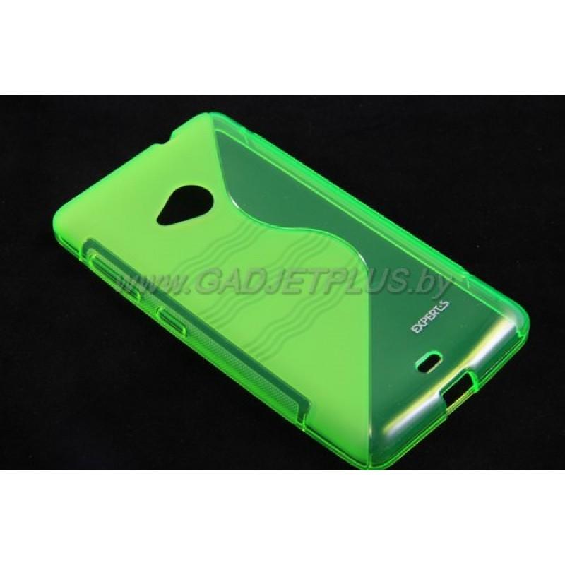 для Nokia Lumia 535 чехол-накладка силиконовый Experts TPU Case зелёный